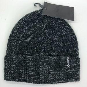 Hurley Max Cuff 2.0 Beanie Grayish/Black Hat